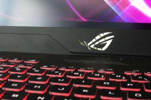 Nahaufnahme einer Notebook-Tastatur