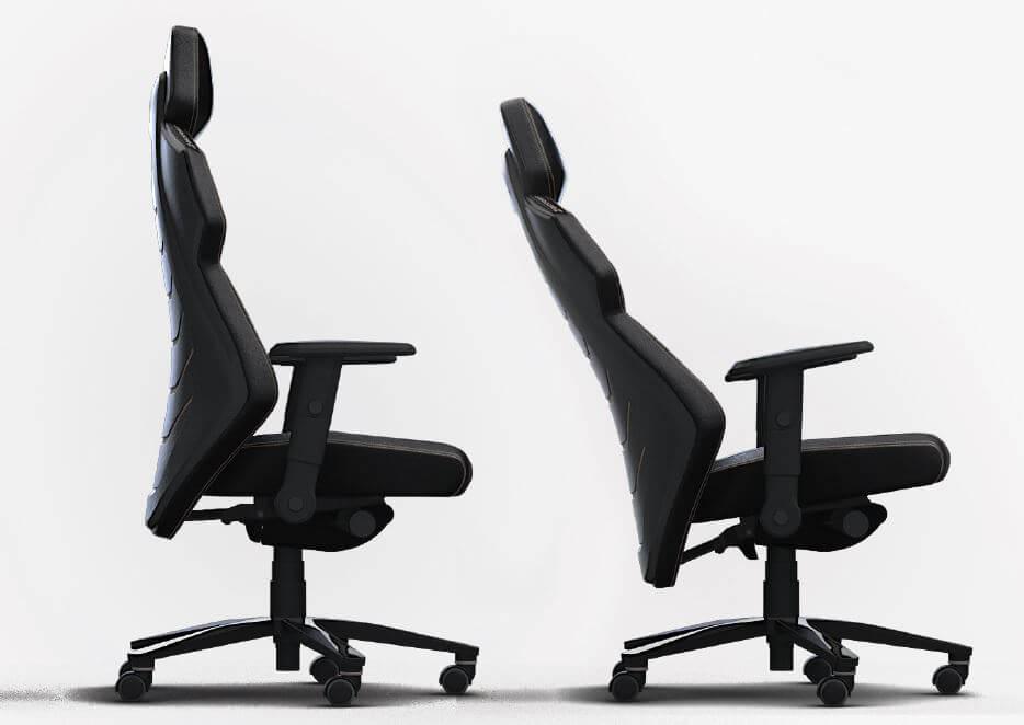 Gaming-Stuhl: Schaubild Synchromechanik