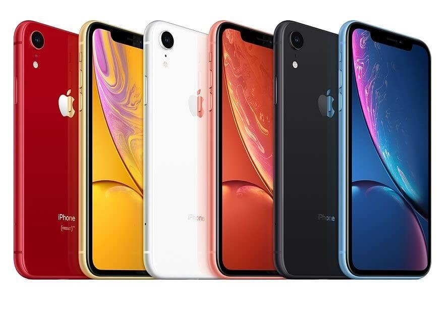 Handy: Verschiedene Farbvarianten des iPhone XR nebeneinander