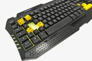 Günstige Gaming-Tastatur: Snakenbyte-Tastatur im BvB-Look