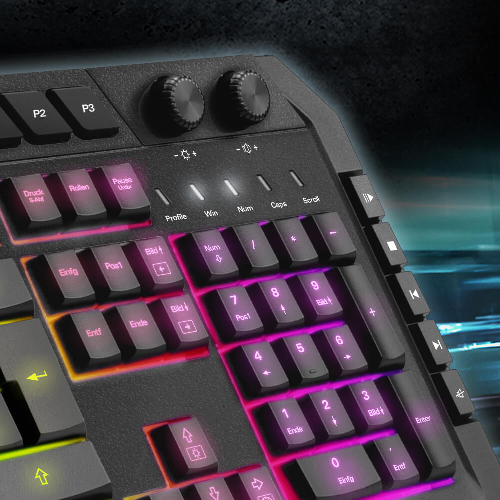 Günstige Gaming-Tastatur: Sharkoon Skiller SGK5