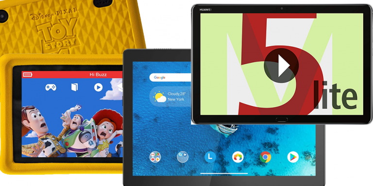 Tablet: verschiedene Android-Tablets als Collage