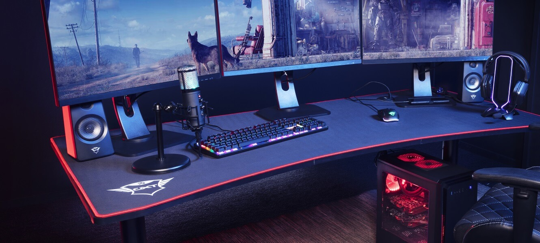Gaming Tisch Computertisch Spieltisch Schreibtisch PC-Tisch Gamingtisch 124x75cm